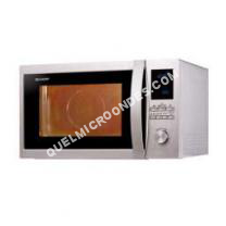 micro-ondes SHARP R922STWE  Four microondes combiné  grill  pose libre  32 litres  1000 Watt  acier inoxydable