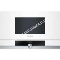 micro-ondes SIEMENS iQ700 BF634LGW1  Four microondes monofonction  intégrable  21 litres  900 Watt  blanc
