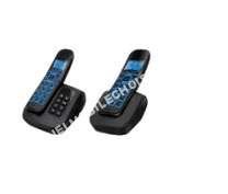 telephone fixecarrefour sans fil cdpd duo noir crf