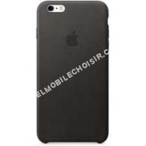 mobile APPLE Coque iPhone  COQUE DE PROTECTION EN CUIR NOIR POUR IPHONE  PLUS/S PLUS