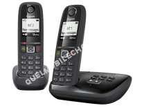 mobile APPLE Téléphone fixe  fil duo avec répondeur  AS405A DUO NOIR
