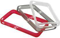 mobile ESSENTIELB  pack de 3 Bump blanc, noir et rouge pour iPhone 4
