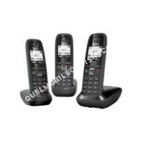 telephone fixe gigaset as405 trio t l phone fil r pondeur noir moins cher. Black Bedroom Furniture Sets. Home Design Ideas