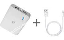 mobile IPOWER iPor 8000 - Batterie externe 8000 mAh + câble Lightning v conteur USB IPOR