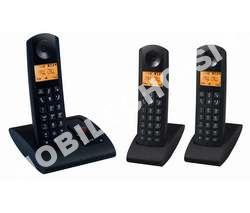 telephone fixecarrefour sans fil cdpt trio noir crf
