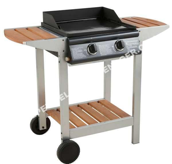 cook 39 in garden barbecue gaz plancha luna 2 titane 2 br leurs barbecue plancha. Black Bedroom Furniture Sets. Home Design Ideas