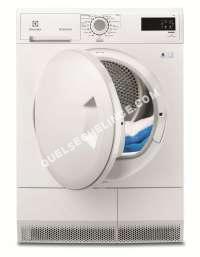 sèche linge ELECTROLUX EDC2086PDW  Sèchelinge  indépendant  largeur  60 cm  profondeur  58 cm  hauteur  85 cm  chargement frontal  blanc